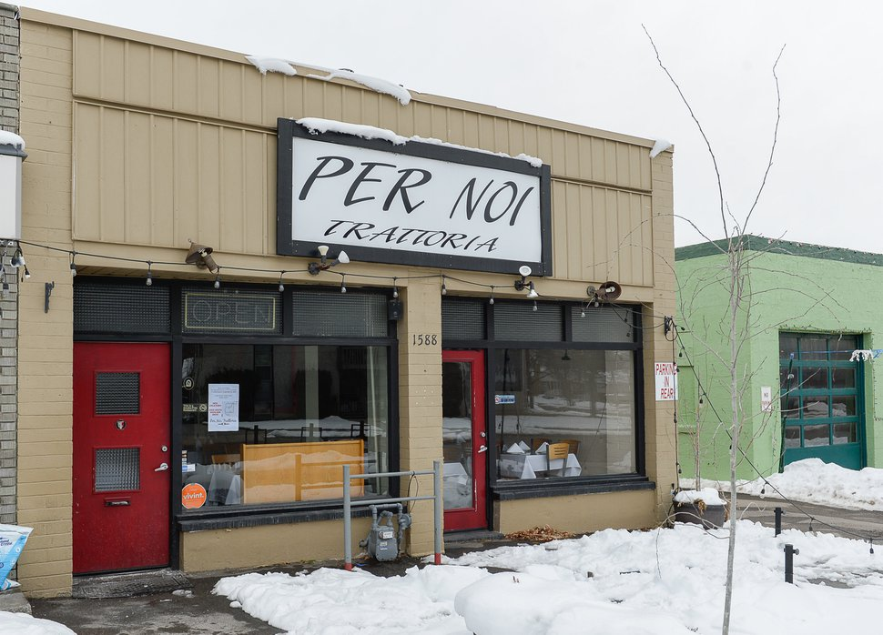 (Francisco Kjolseth | The Salt Lake Tribune) Per Noi Trattoria is closing its quaint neighborhood spot at 1588 Stratford Ave. in Salt Lake City, pictured, on Tuesday and moving to a larger space on Highland Drive (the old Michelangelo Ristorante).