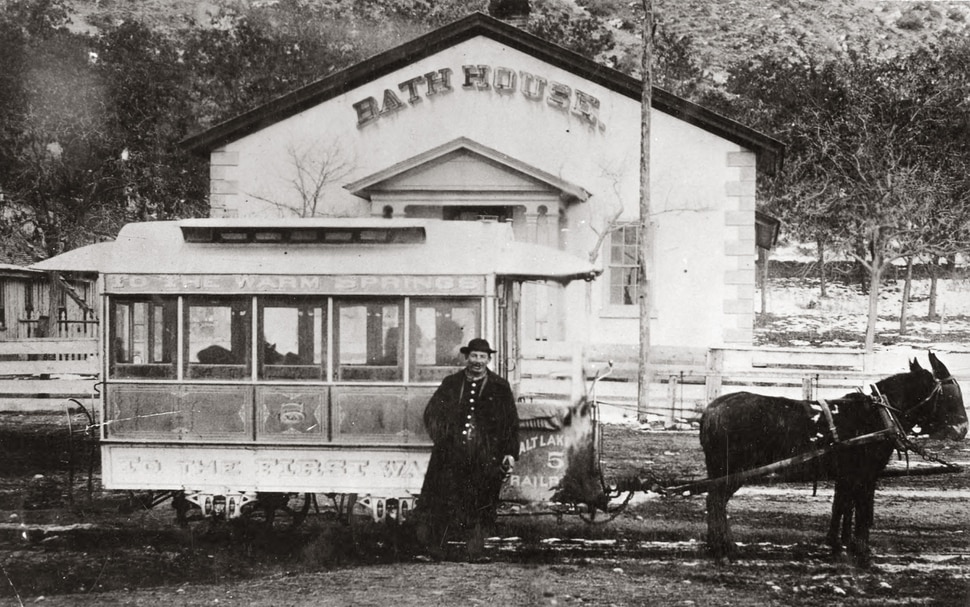 (Photo courtesy Utah State Historical Society) This undated photo shows the Warm Sulphur Springs Bath House on Beck Street.
