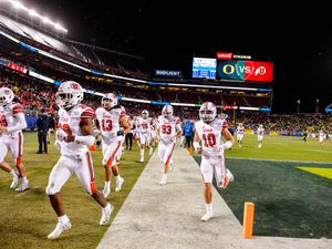 (Trent Nelson  |  The Salt Lake Tribune)Utah players run off the field at halftime, trailing 0-20 as Utah faces Oregon in the Pac-12 football championship game in Santa Clara, Calif., on Friday Dec. 6, 2019.