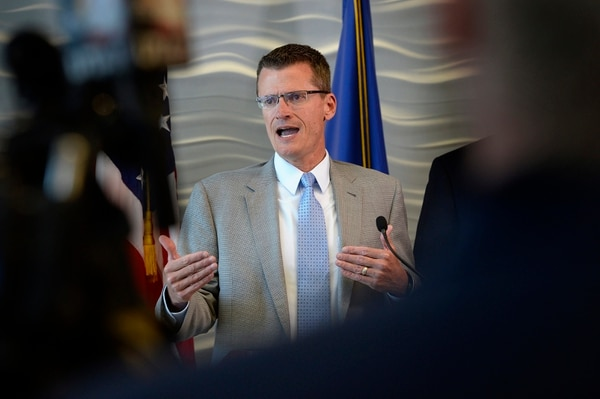 Scott Sommerdorf   The Salt Lake Tribune FBI Special Agent in Charge Eric Barnhart speaks at a press conference about the arrest of FLDS Church Leader Lyle Jeffs, Thursday, June 15, 2017. Jeffs was arrested Wednesday night in South Dakota.