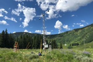 (Lawrence Berkeley National Laboratory) The Surface Atmosphere Integrated Field Laboratory (SAIL) near Crested Butte, Colo., will start collecting a vast range of weather data on September 1, when scientists flip the switch on a slew of machinery that has been amassed in the Upper Colorado River Basin.