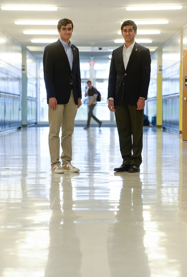 (Francisco Kjolseth | The Salt Lake Tribune) Twin 16-year-old brothers Kanishka, left, and Vikrant Ragula, seniors at Skyline, created a marketing campaign that helped get the bond passed that will rebuild their high school.