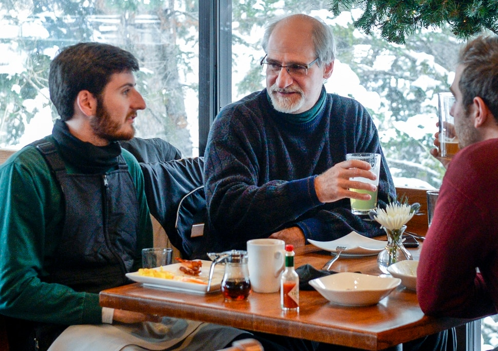 Leah Hogsten | The Salt Lake Tribune Texting is more dangerous, said Phillip Melfi of UtahÕs new toughest-in-the-nation drunken driving law that takes effect Dec. 30 while having breakfast with his sons Elliot and Owen at Snowbird's Forklift restaurant, December 29, 2018. The new law lowers the blood alcohol content (BAC) at which drivers are presumed to be legally drunk from 0.08 to 0.05.
