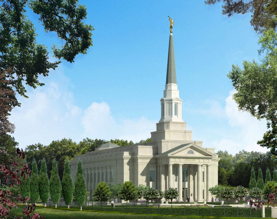 (Photo courtesy of The Church of Jesus Christ of Latter-day Saints) Rendering of the Richmond Temple.