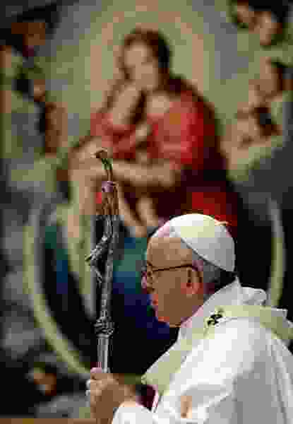 Pope Francis urges church unity, blames divisions on work of devil