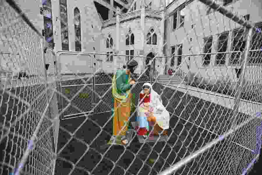 Indianapolis church cages Holy Family in immigration protest