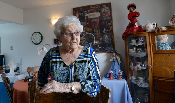 (Al Hartmann | The Salt Lake Tribune) It's the 50th anniversary of Friendship Manor at 500 S. 1300 East in Salt Lake City. Gennevieve Russell, 95, can't imagine moving from her apartment. She said that she has a lot of stuff she's collected over the years, especially Coca-Cola memorabilia. Russell has been a resident for nearly 14 years.
