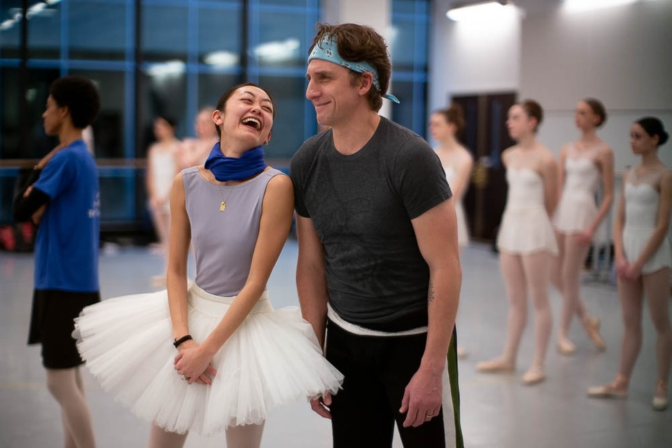 (Trent Nelson | The Salt Lake Tribune) Christopher Ruud, veteran dancer at Ballet West, is retiring after this season — with his last major role in the production of Swan Lake set for Feb. 8-23. He was photographed during rehearsal at the Capitol Theatre in Salt Lake City on Thursday Jan. 17, 2019. At left is Sayaka Ohtaki.