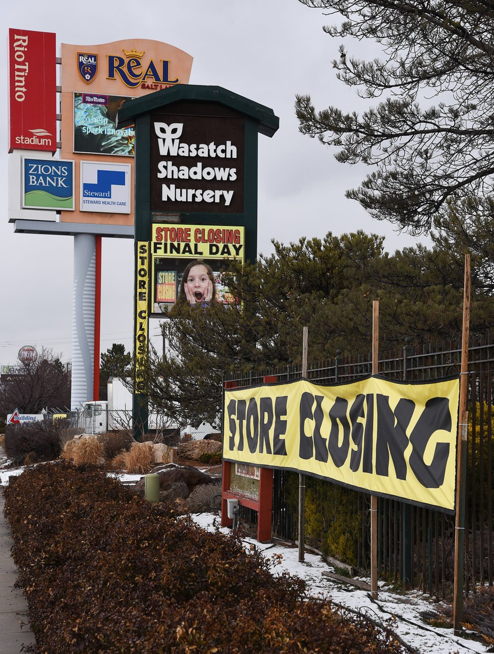 (Francisco Kjolseth | The Salt Lake Tribune) Wednesday marks the official last day of business for Wasatch Shadows garden and landscape center in Sandy. After 42 years, owners, Loren and Debbie Nielsen, are retiring. They have sold the 10 acre plot, just west of the Real Soccer Stadium, to Sandy City for future development.