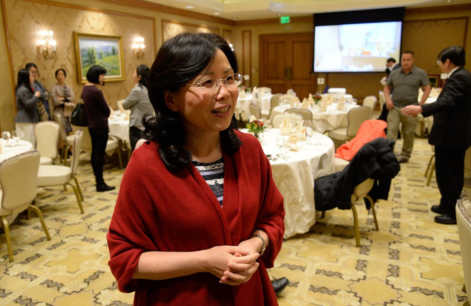 (Francisco Kjolseth | The Salt Lake Tribune) Minister Xu Xueyuan, of the Chinese embassy in the United States, holds a reception at Little America Hotel on Friday, Nov. 22, 2019, to thank everyone who cared for the Chinese tourists killed and injured in the bus crash Sept. 20 near Bryce Canyon National Park. The crash killed four passengers and injured 27 others aboard.