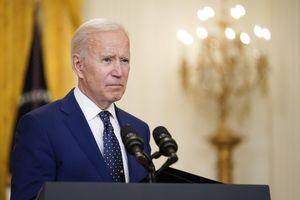 (Andrew Harnik | AP) President Joe Biden speaks about Russia in the East Room of the White House, Thursday, April 15, 2021, in Washington.