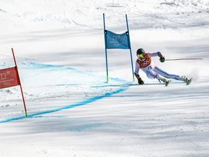 (Chris Detrick     The Salt Lake Tribune) Park City's Ted Ligety competes in the Men's Giant Slalom Run 2 during the Pyeongchang 2018 Winter Olympics Sunday, Feb. 18, 2018. Ligety finished in 15th place with a combined time of 2:21.25.
