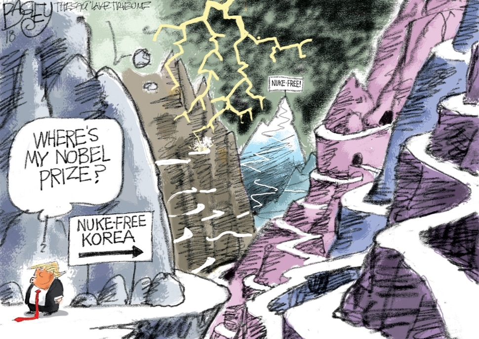 (Pat Bagley | The Salt Lake Tribune) This Pat Bagley cartoon appears in the Sunday, April 29, 2018, Salt Lake Tribune.