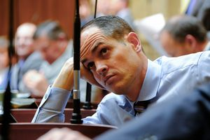 (Francisco Kjolseth  |  The Salt Lake Tribune)  Sen. Mike McKell, R-Spanish Fork, is pushing a bill to regulate how social media moderates content, but those companies were refusing to negotiate with him.