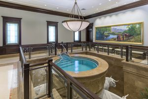 (Photo courtesy of The Church of Jesus Christ of Latter-day Saints)  The baptistry in the Cedar City Temple.