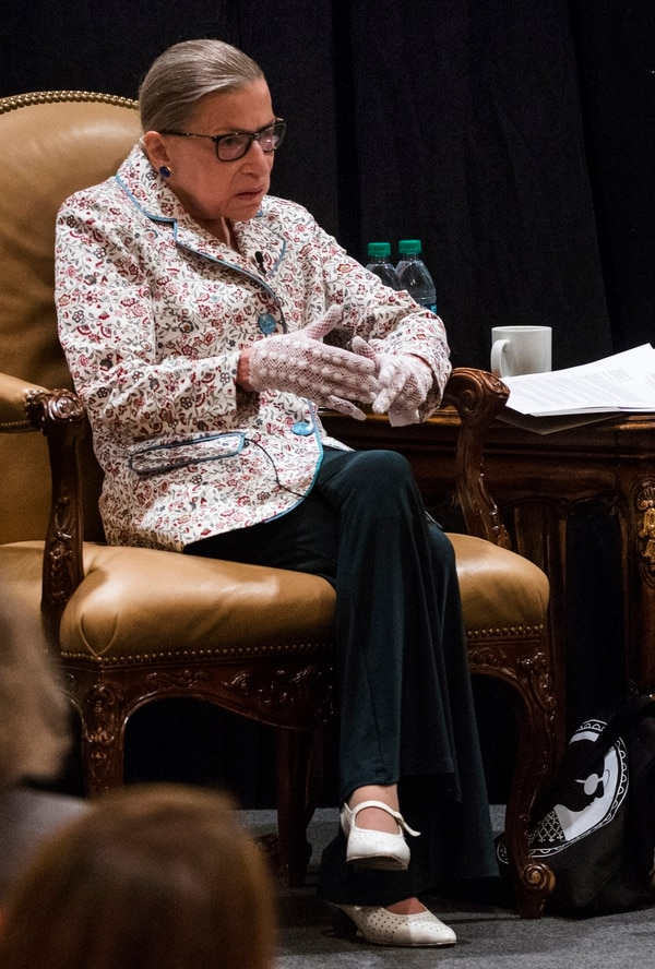 Rick Egan | The Salt Lake Tribune U.S. Supreme Court Justice Ruth Bader Ginsburg address the Utah State Bar at their annual convention at the Sun Valley Inn, Friday, July 28, 2017.