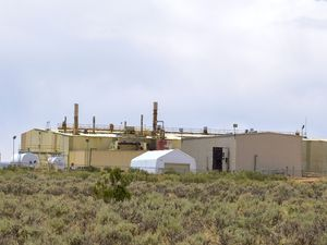 (Leah Hogsten |  Tribune file photo) Energy Fuels, which operates the only conventional uranium mill in the United States near Blanding, in San Juan County, Utah, on June 24, 2020. The company and its leaders, along with another uranium mining company made coordinated campaign contributions leading up to the creation of a $75 million federal uranium stockpile.