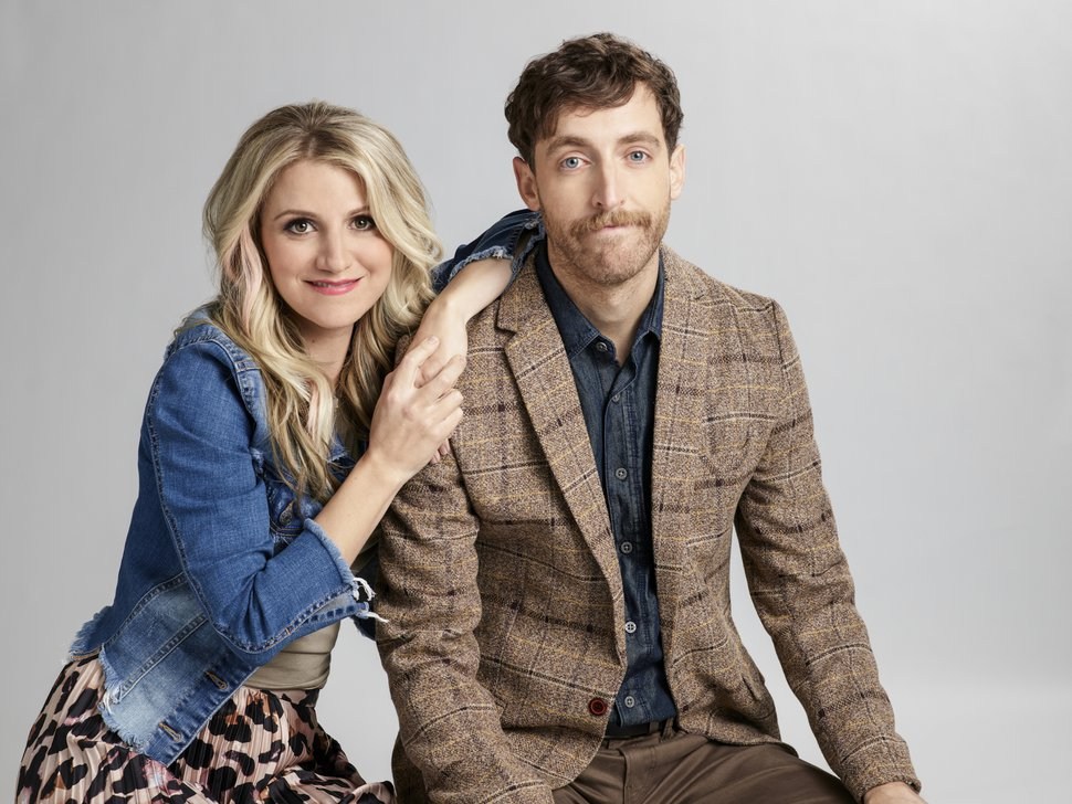 "(Photo courtesy of Pamela Littky/Warner Bros. Entertainment) Annaleigh Ashford as Gina and Thomas Middleditch as Drew in ""B Positive."""