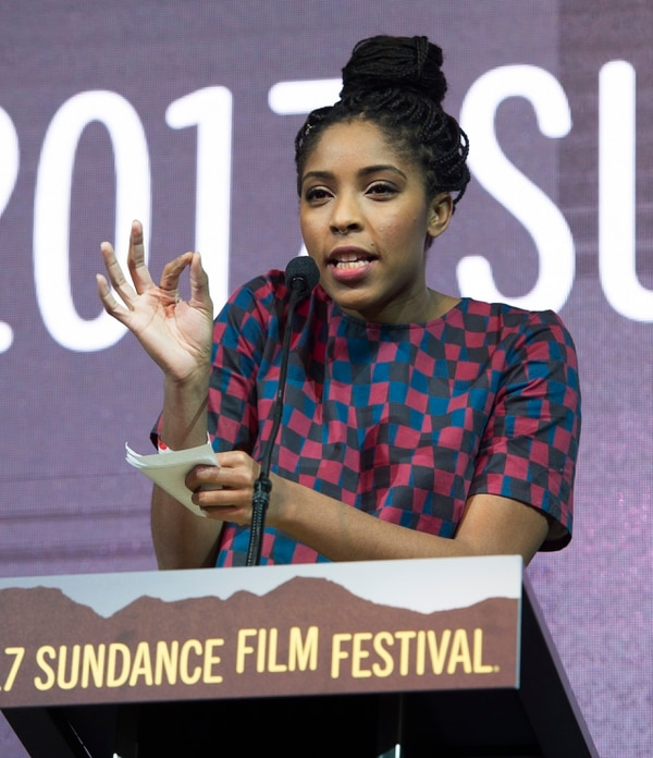 Rick Egan | The Salt Lake Tribune Jessica Williams hosts the 2017 Sundance Film FestivalÕs Awards Ceremony, Saturday, January 28, 2017.