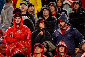 (Trent Nelson  |  The Salt Lake Tribune)Utah fans at the end of the game, as Utah faces Oregon in the Pac-12 football championship game in Santa Clara, Calif., on Friday Dec. 6, 2019.