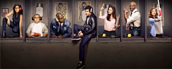 (Courtesy photo) Stephanie Beatriz, Joe Lo Truglio, Andre Braugher, Andy Samberg, Melissa Fumero, Terry Crews and Chelsea Peretti star in the Fox comedy