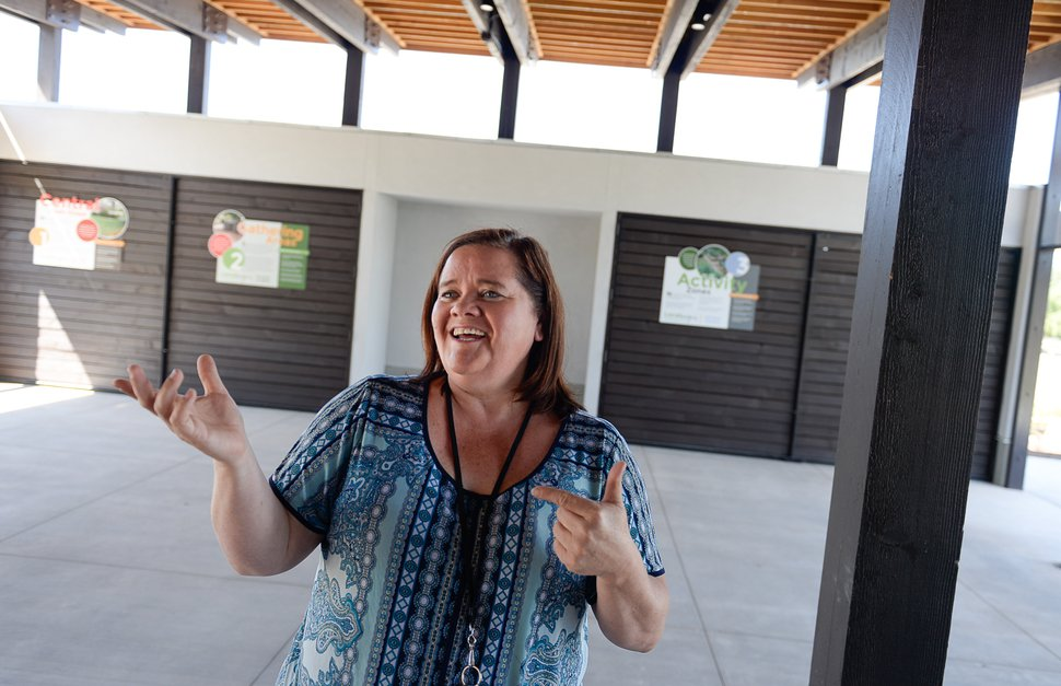 (Francisco Kjolseth | The Salt Lake Tribune) Cynthia Bee, outreach coordinator at Conservation Garden Park in West Jordan, works to promote environmentally-friendly landscaping through an immersive classroom at the park based on the idea of Localscapes.