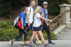 (Rick Egan  |  The Salt Lake Tribune)    Students on BYU campus in Provo, on Tuesday, Sept. 22, 2020.