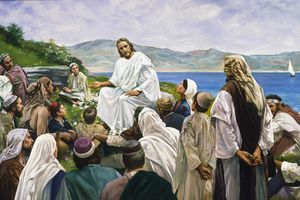 """(The Church of Jesus Christ of Latter-day Saints) """"The Sermon on the Mount,"""" by Harry Anderson has been approved for use in church foyers."""