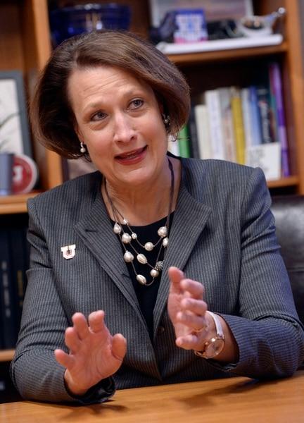 (Al Hartmann | The Salt Lake Tribune) Ruth Watkins will succeed David Pershing this Spring as president of The University of Utah.