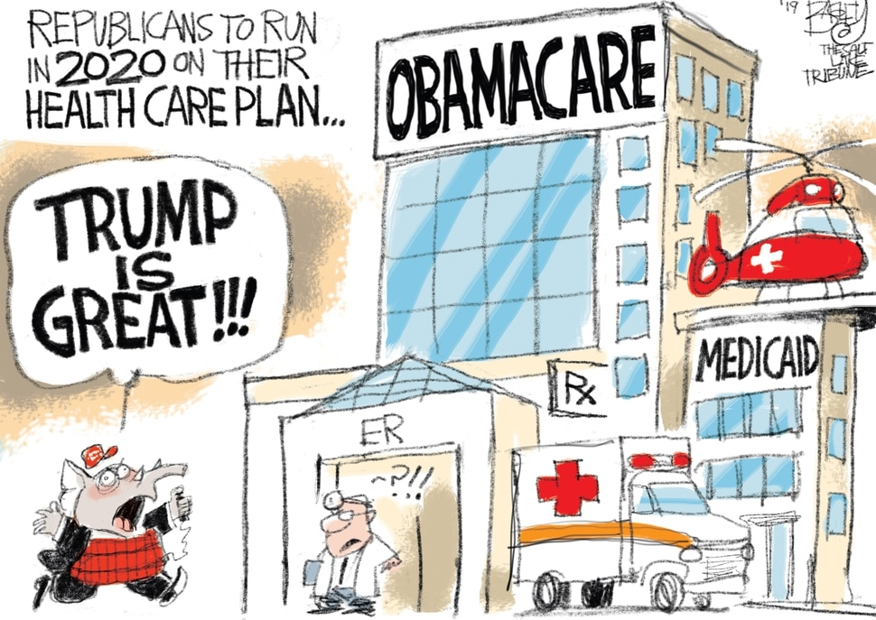 This Pat Bagley cartoon appears in The Salt Lake Tribune on Sunday, March 31, 2019.