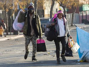 (Rick Egan | Tribune file). People who were camping on Rio Grande Street in Salt Lake City gather their belongings in December 2020. The Church of Jesus Christ of Latter-day Saints recently announced $3.3 million in donations to help shelter homeless Utahns.