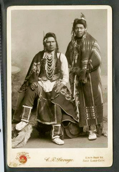 Photograph courtesy of Darren Parry, Chairman of the Northwestern Band of the Shoshone Nation An undated photograph of members of the Northwestern Band of the Shoshone.
