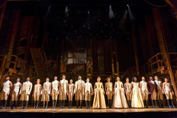 (Photo courtesy of Joan Marcus) The cast of the national tour of