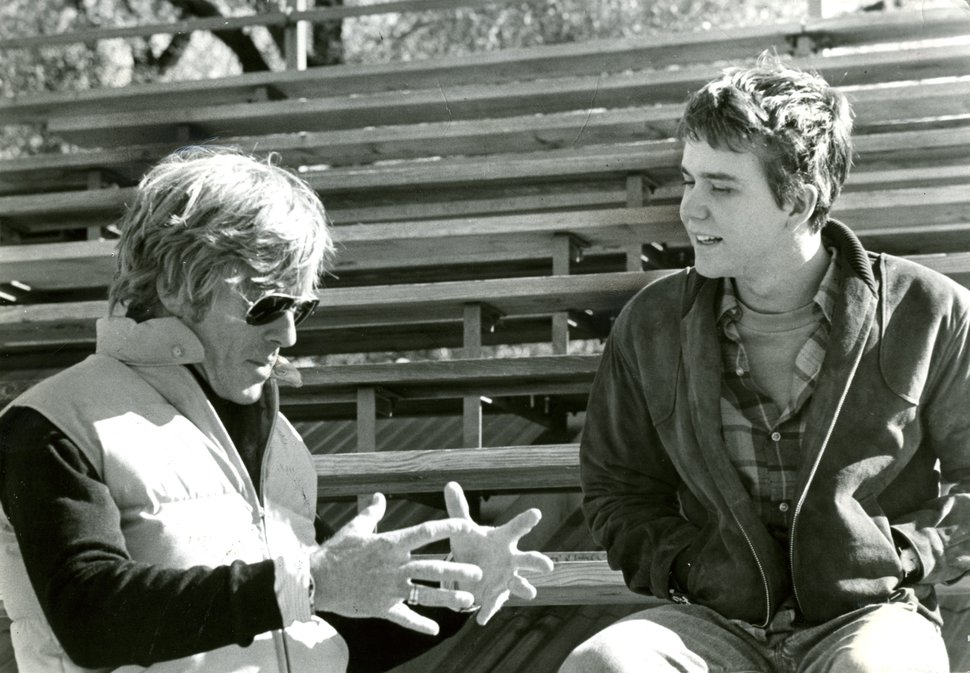 Robert Redford directing a scene for