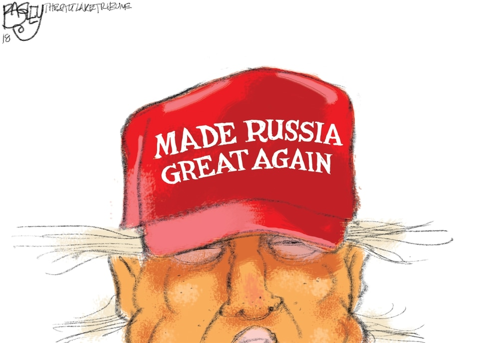 (Pat Bagley | The Salt Lake Tribune) This Pat Bagley cartoon titled Red Hat appears in The Salt Lake Tribune on Sunday, Dec. 2, 2018.
