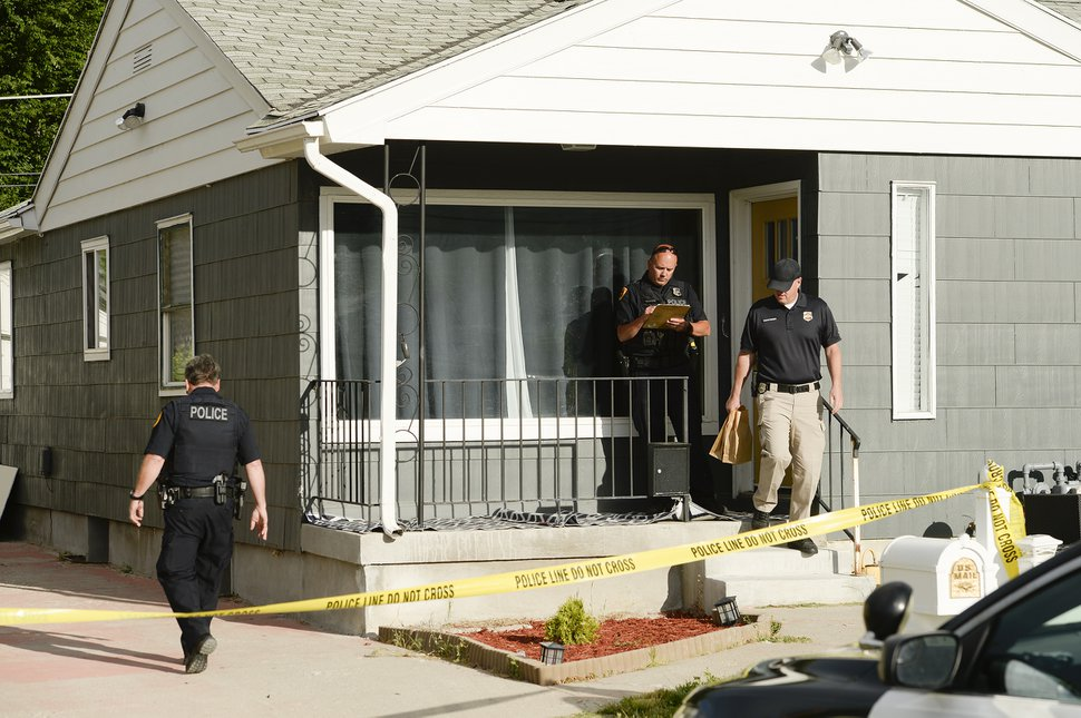 (Leah Hogsten | Tribune file photo) Police investigators conclude their search a home at 547 N. 1000 West in Salt Lake City as part of the disappearance of University of Utah student MacKenzie Lueck, Thursday morning, June 27, 2019.