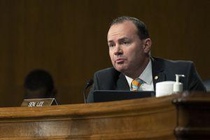 (Jim Watson | File pool photo via AP) Sen. Mike Lee, R-Utah, speaks during hearing on  Jan. 27, 2021 on Capitol Hill in Washington.