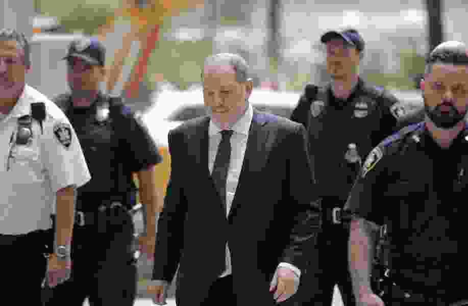 New York City prosecutors drop part of Harvey Weinstein case