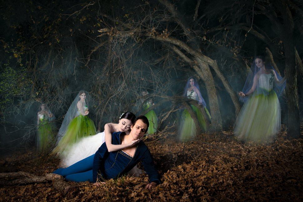 (Beau Pearson | courtesy Ballet West) Ballet West dancers Sayaka Ohtaki and Chase O'Connell enact a scene from the romantic ghost story