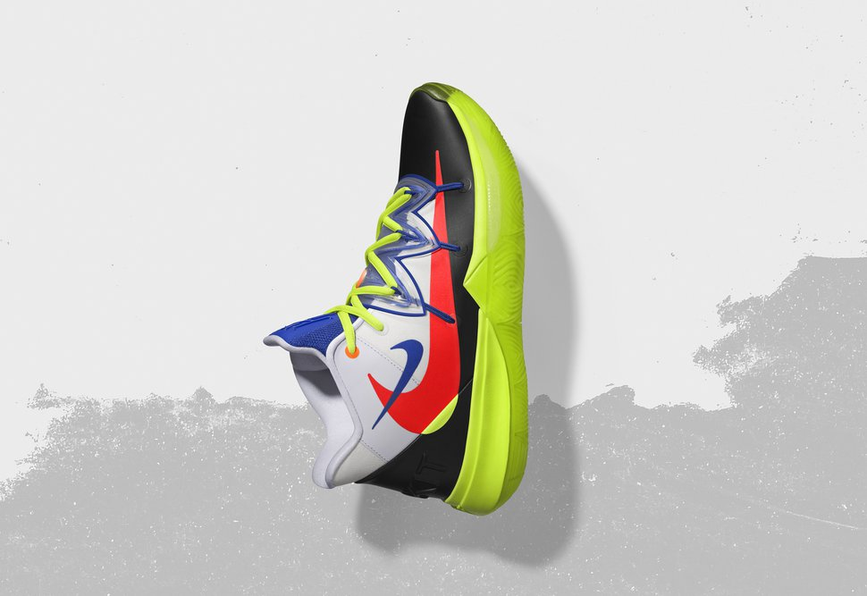 (Nike via AP) In this undated image provided by Nike, a shoe that Boston Celtics' Kyrie Irving will wear for the NBA All-Star Game is shown. The 68th NBA All-Star Game will be played in Charlotte, N.C. on Feb. 17, 2019.