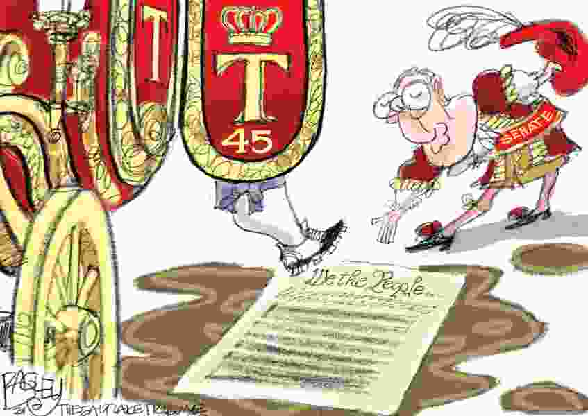 Bagley Cartoon: A Monarchy, If He Can Get It
