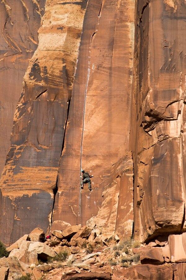(Rick Egan | Tribune file photo) Climbers at Indian Creek, seen in 2016.