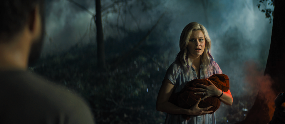 (Photo courtesy Sony Pictures) Elizabeth Banks plays a woman who adopts a baby who crash-lands on her property, in the horror thriller Brightburn.