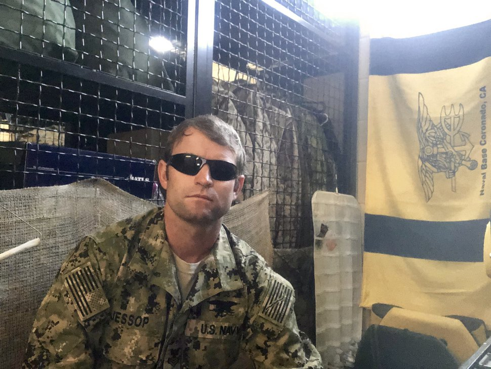 (Photo courtesy of Marty Jessop) Marty Jessop, a Navy SEAL, at Naval Base Coronado circa 2013.