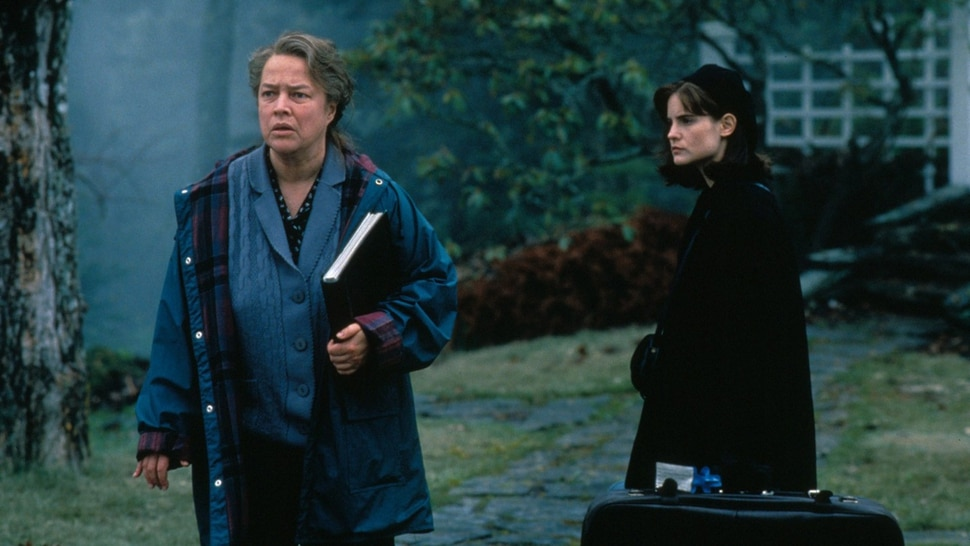 Courtesy photo Dolores Claiborne (Kathy Bates, left) is accused of murdering her employer, which prompts an an uneasy reunion with her daughter, Selena (Jennifer Jason Leigh), in the 1995 thriller