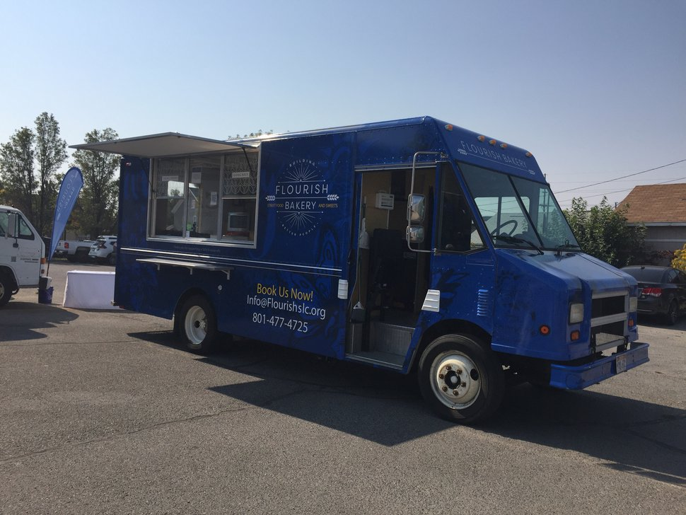 (Kathy Stephenson | The Salt Lake Tribune) Flourish Bakery's food truck specializes in sandwiches, breads and sweets.