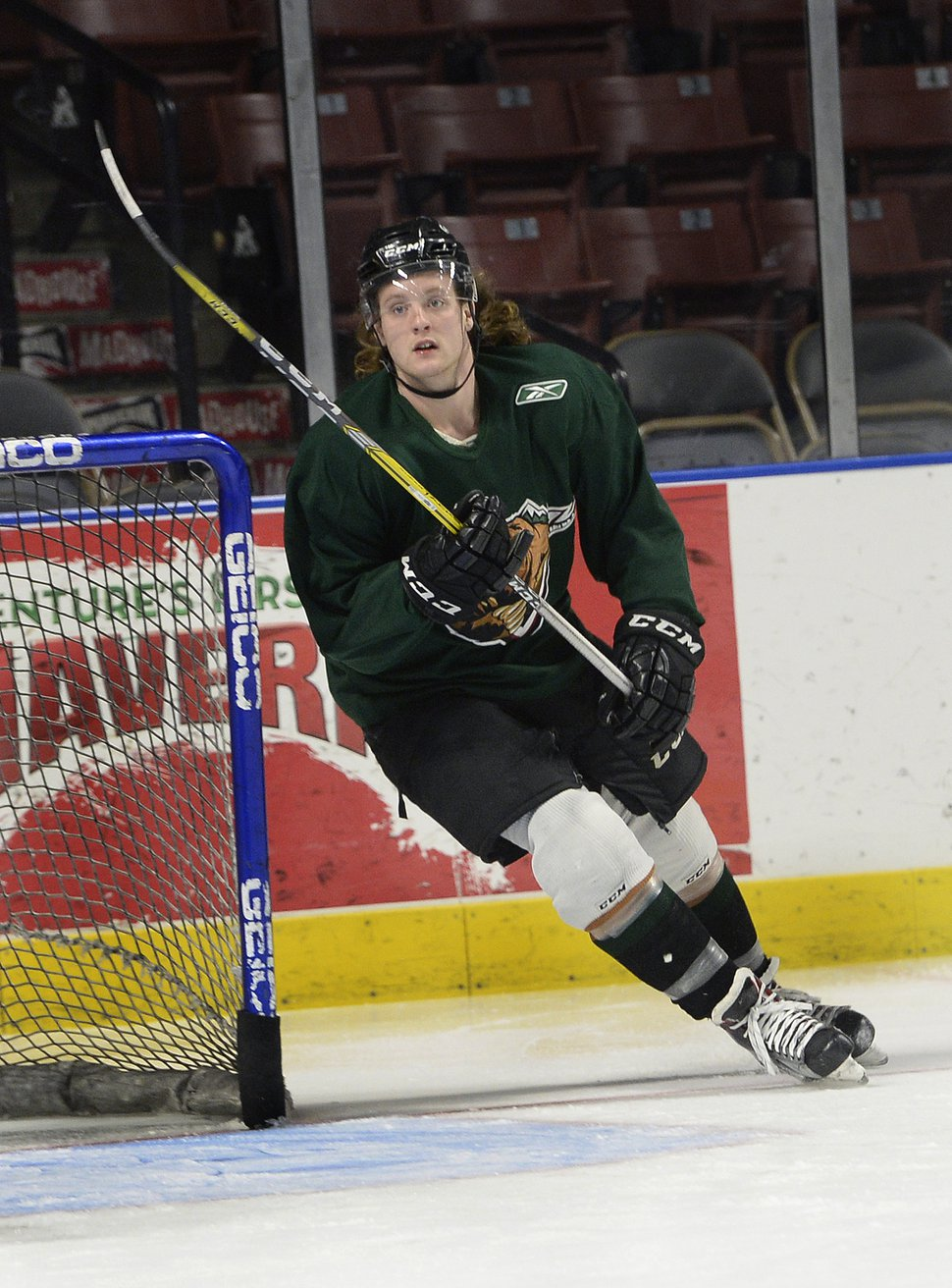 Scott Sommerdorf   The Salt Lake Tribune Utah Grizzlies hockey player Travis Howe during practice, Thursday, March 2, 2017.