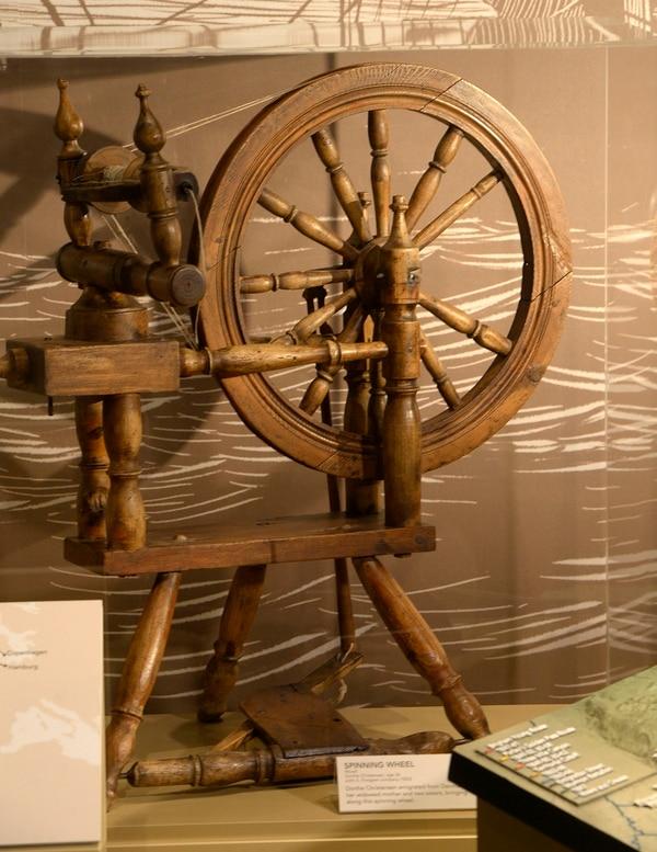Al Hartmann | The Salt Lake Tribune Spinning wheel of Dorthe Christensen, brought from Denmark to Utah in 1853. It's one of many historical items in