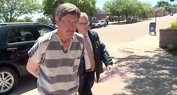 image courtesy KSFY Lyle Jeffs is seen on Thursday, June 15, 2017, after his arrest in South Dakota.