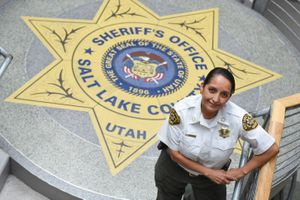 (Francisco Kjolseth     The Salt Lake Tribune)  Rosie Rivera is the first woman in Utah to serve as any county's sheriff after being sworn in on August 15, 2017.